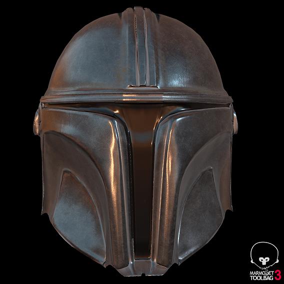 Mandalorian Helmet Model