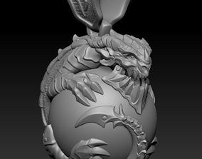 3D printable model Dragon Pendant for production