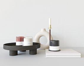 3D model PBR Decoration Set Candles