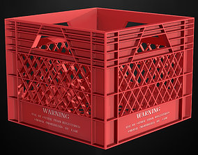 3D model game-ready package Crate
