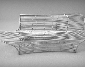 3D model Sofabed with Wire Techniques