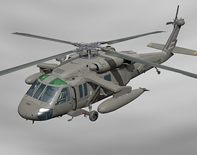 helicopter 3D model military