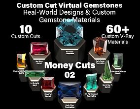 3D model Money Cuts 02 - Custom Cut Gemstones and Custom 2