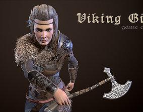 3D asset animated VR / AR ready Viking Girl