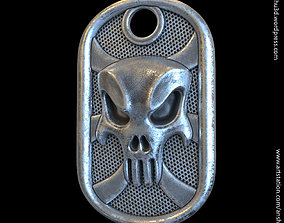 3D print model the punisher skull vol1 tag Pendant jewelry