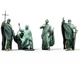 Statues Cathedral Issakievskogo 3D asset