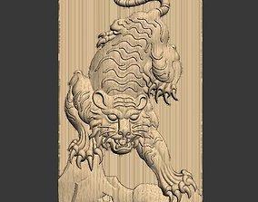 tiger 3D model cnc