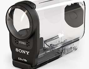 Sony SPK-AS2 Case for HDR-AS200V action 3D asset