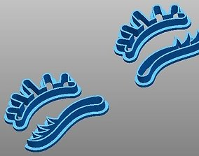 3D print model Eyelashes cookie cutters