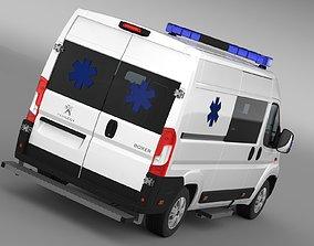 Peugeot Boxer Van Ambulance 2017 3D