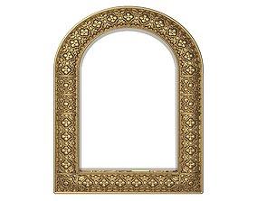 carved frame mirror 3D