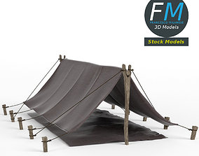 Simple pup tent 3D