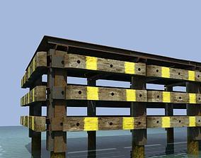 3D model Old rusty pier