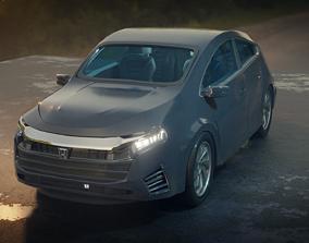 Honda Insight Car 3D asset