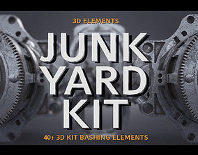PBR Junk Yard Kit - 50 plus 3d Elements junk