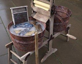 Antique Laundry Tools 3D