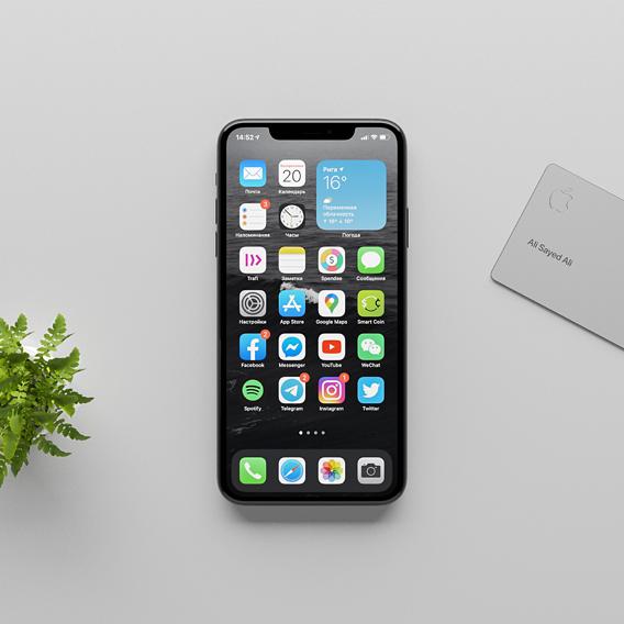 iPhone 12 Pro using IOS 14