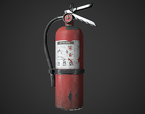 Fire extinguisher poly 3D asset low-poly PBR