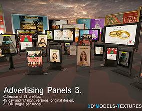 3D asset Advertising Panels 3