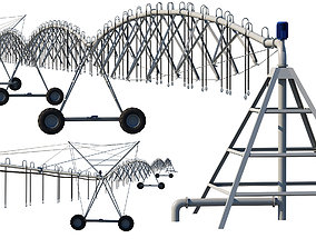 3D model Center Pivot Irrigation System