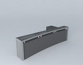 Counter stool black 3D