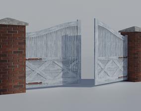 3D model Driveway Entrance Gate