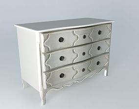 3D model Light gray dresser