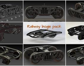 3D model Railway bogie pack