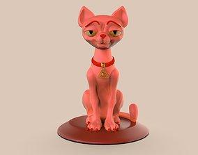 Pink cat 3D print model