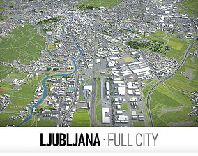 3D model Ljubljana - city and surroundings
