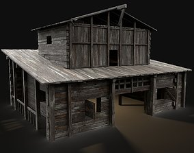 3D model GRANARY WAREHOUSE MEDIEVAL BARN STORAGE STORE 1