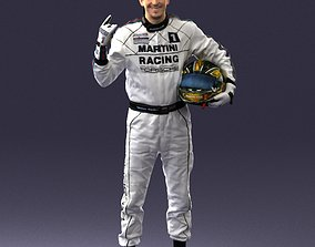 Male race car driver 0268 3D Print Ready