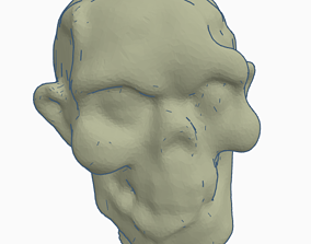 Zombie Head Candle - 3D Scan