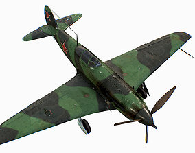 Russian Soviet fighter aircraft Yakovlev Yak-9 3D model