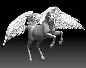 Flying Winged horse sculptures 3D print model