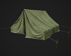 3D model realtime Camp Tent Military