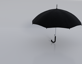 Black umbrella 3D