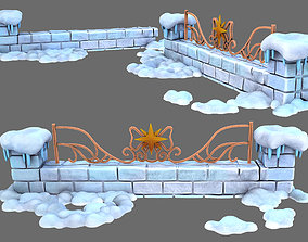 3D model snow ice fence