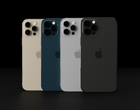 Apple iPhone 12 Pro in all Official Colors 3D model