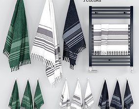 Scandinavian Towels Set 3D