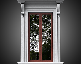 3D masonry Classical window without pediment
