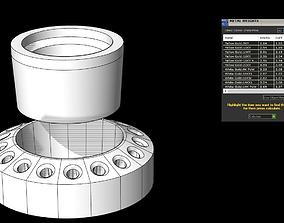 Halo pendant 3D printable model wedding