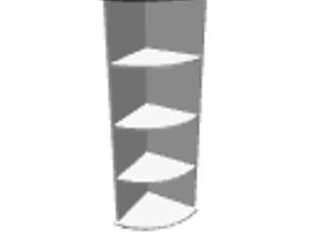 Angle shelf 3D model