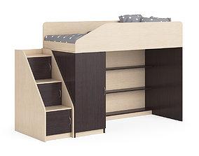 3D model Legenda K11 with LY11 childrens modular bed