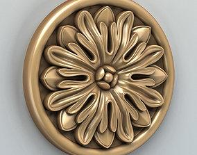 3D model Round rosette 004
