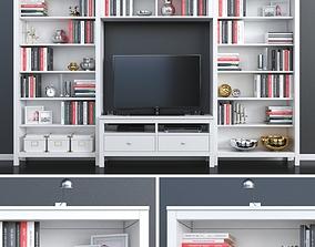 Ikea Hemnes tv place decor set 3D