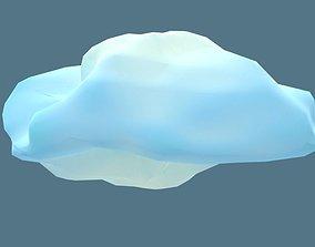 Low Poly Cloud 3D asset