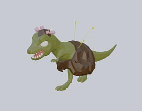 Dinosaur stone age game model animated