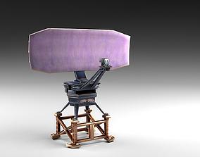 Cartoon radar antenna 3D asset