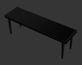 3D model Wilhoit Wood Bench